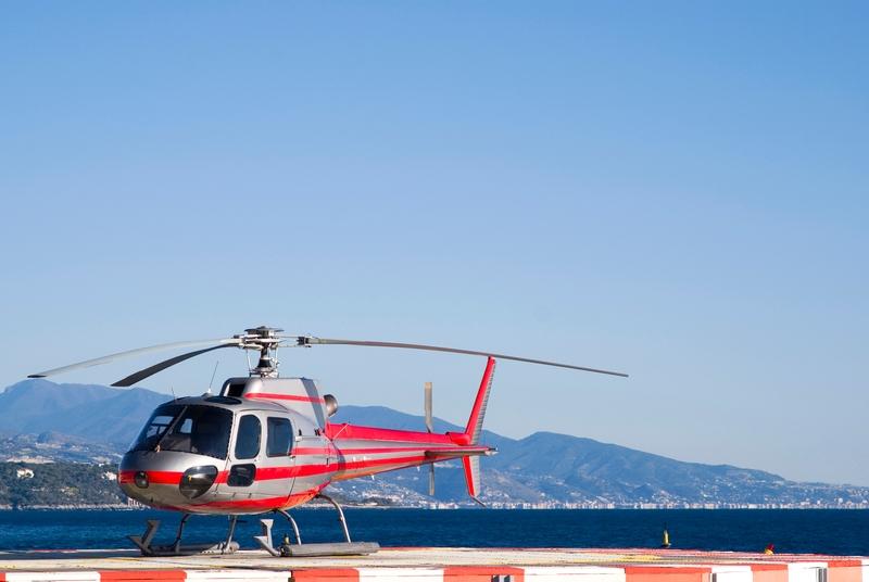 helicóptero en niza