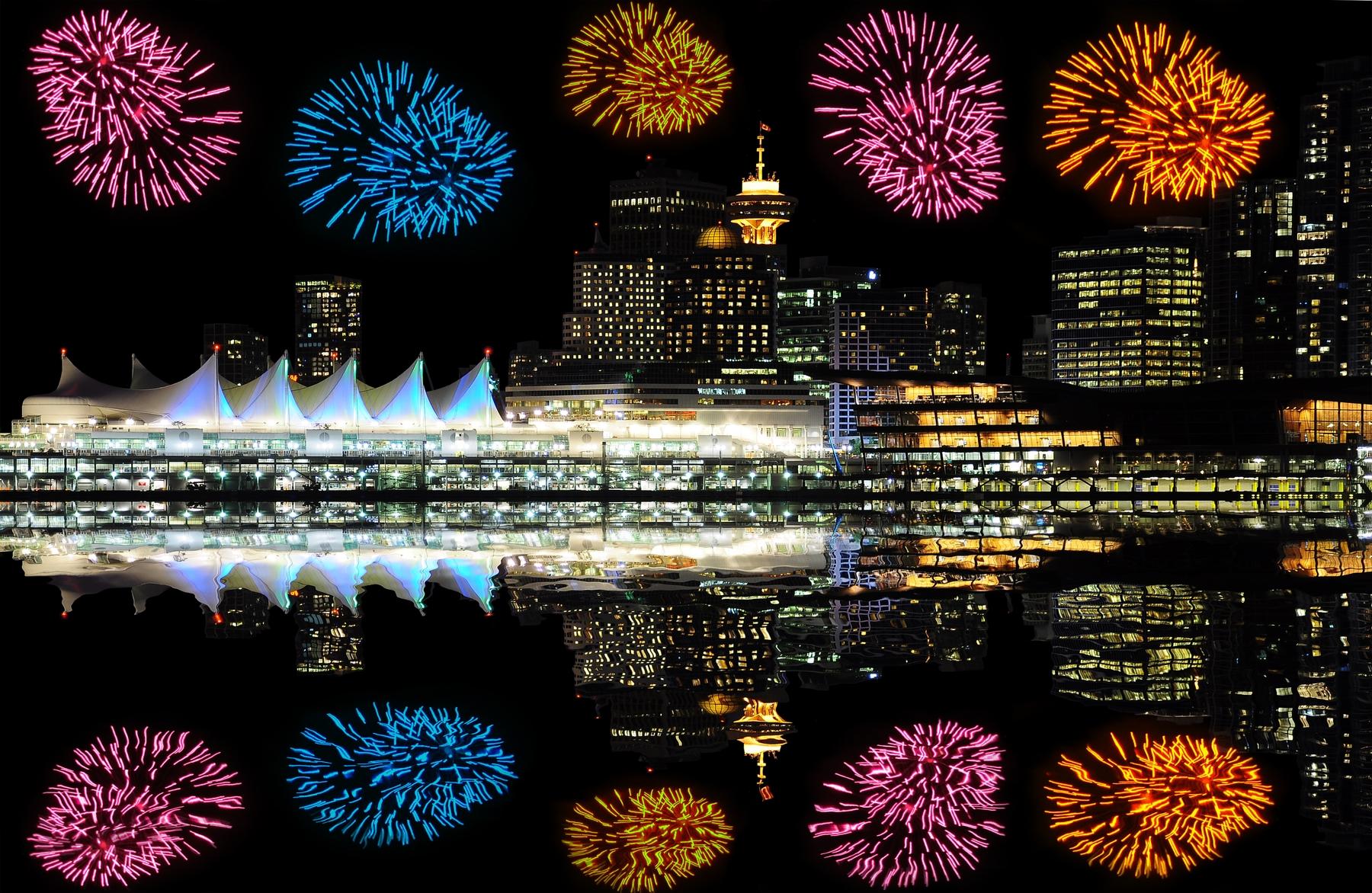 feux d'artifice à Vancouver