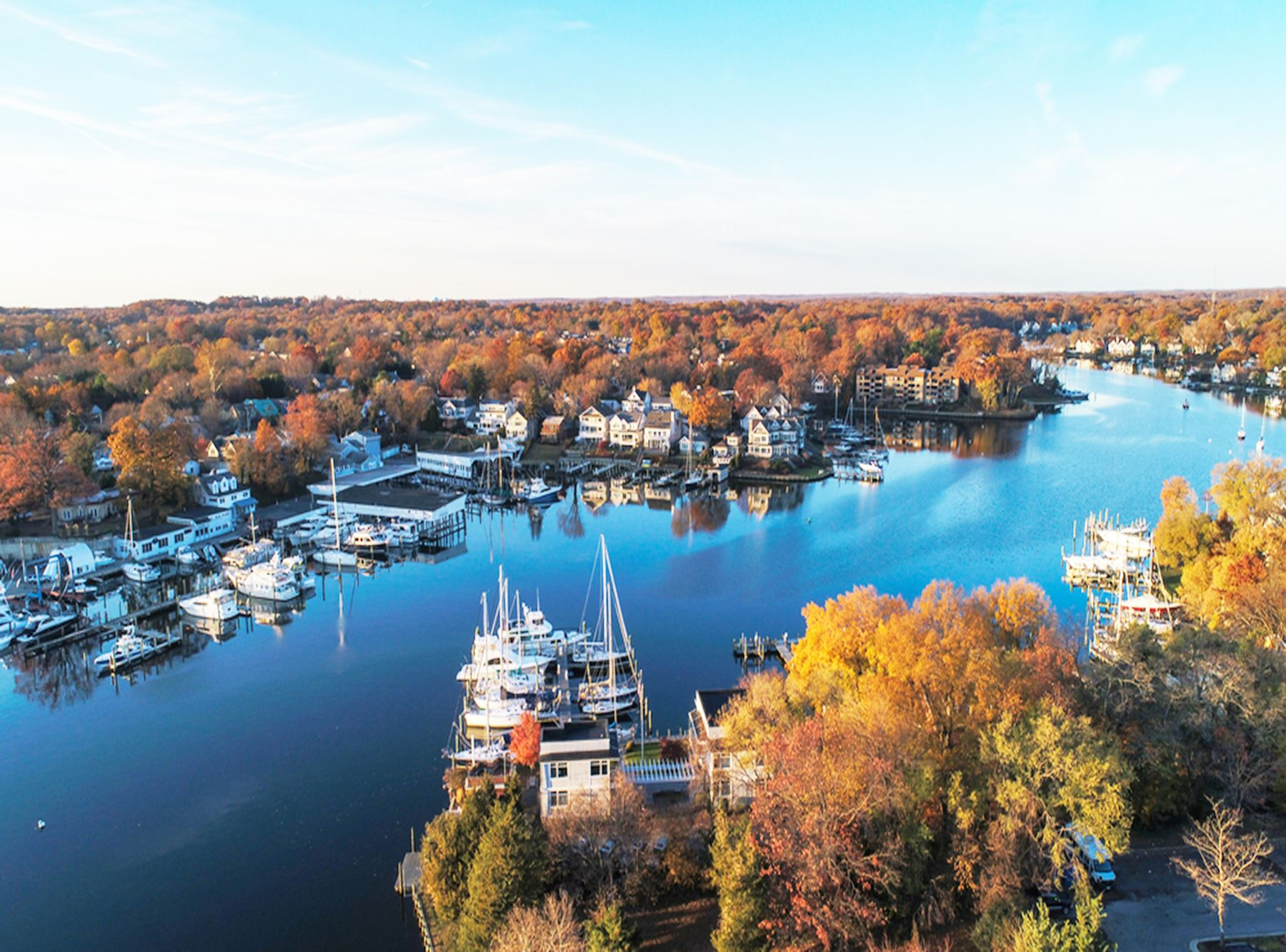 Aerial view of historic weekend getaway spot: Annapolis, Maryland