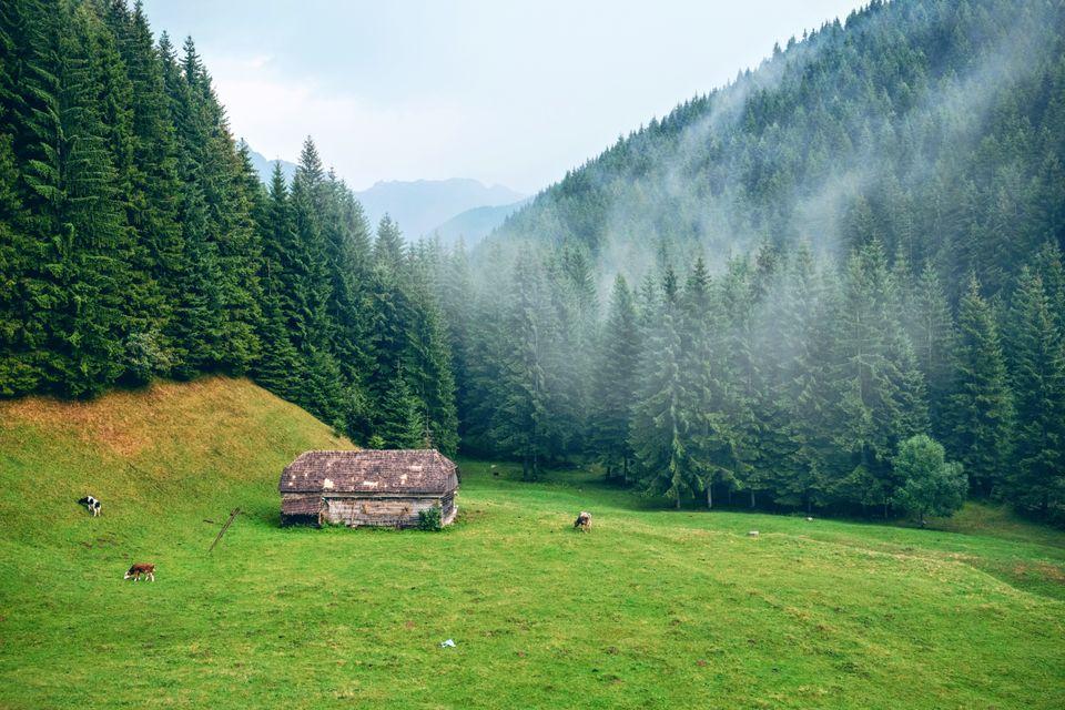 Горная деревушка в Румынии