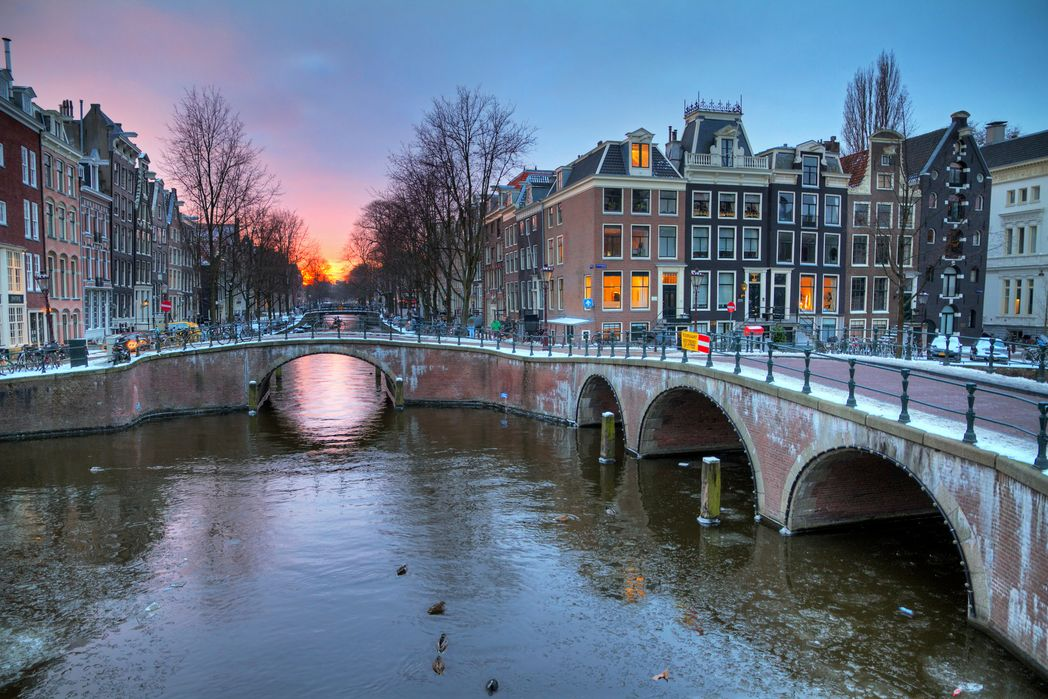 A sunset in Amsterdam