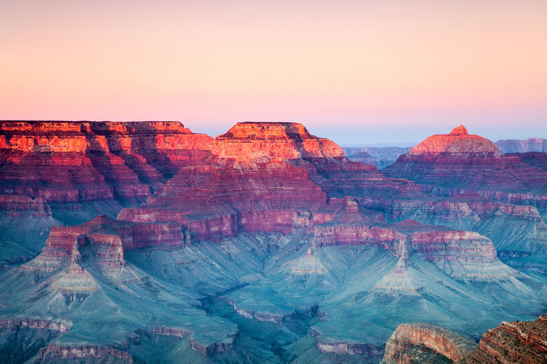 Aerial view of the domestic beauty, the Grand Canyon in Arizona, USA