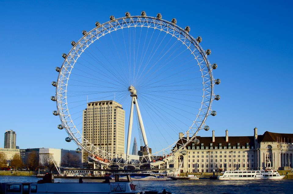 View of London Eye during the day