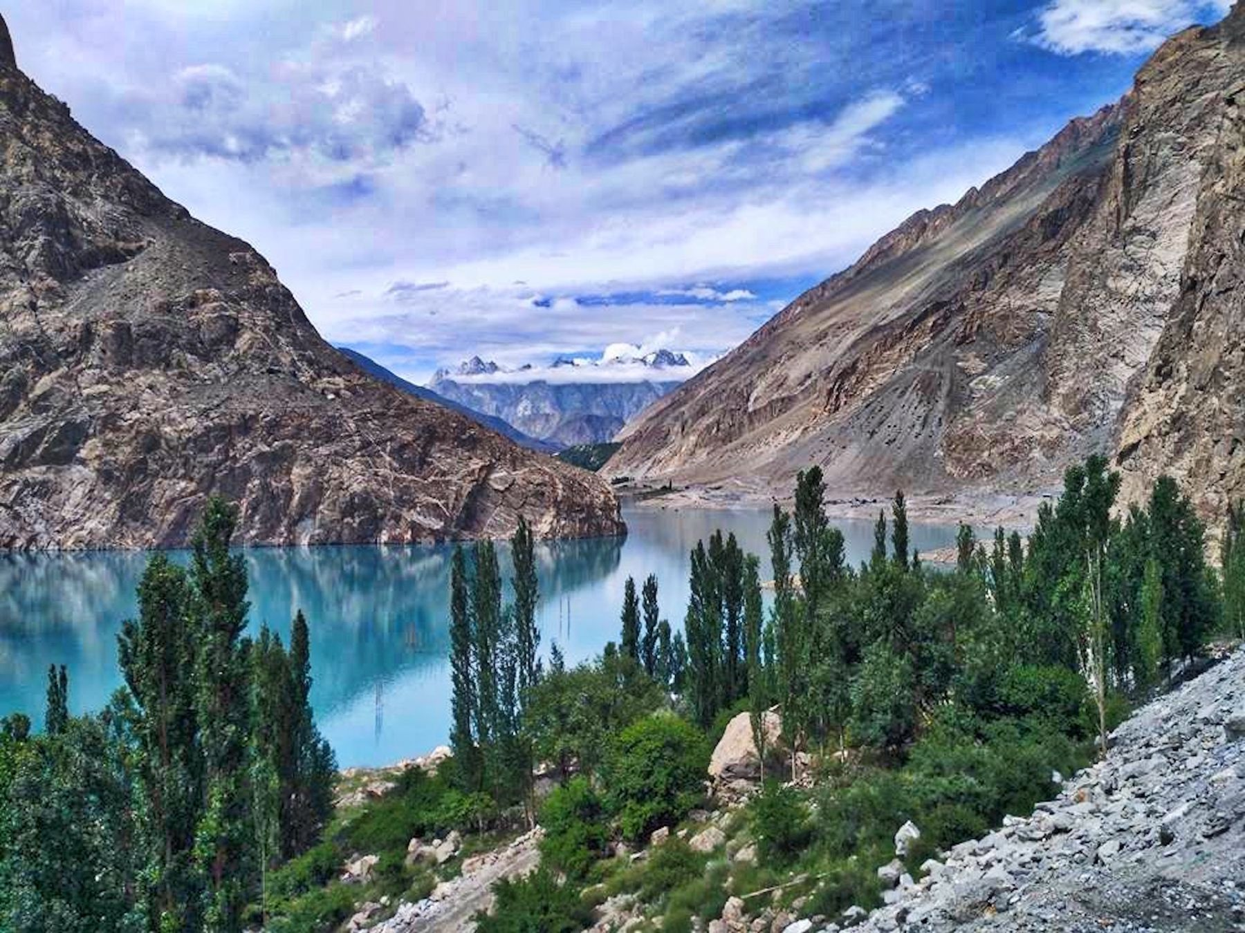 lake and mountains in northern pakistan
