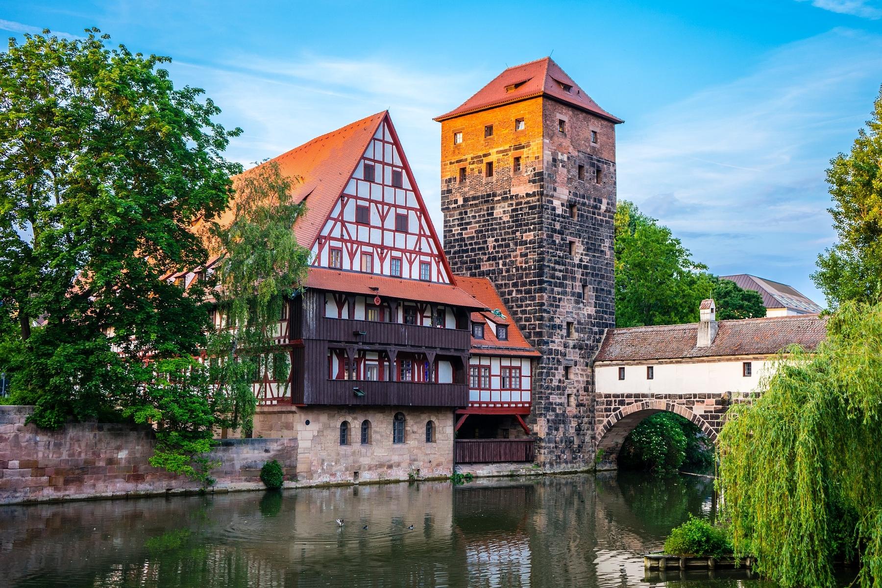 Die malerische Stadt Nürnberg