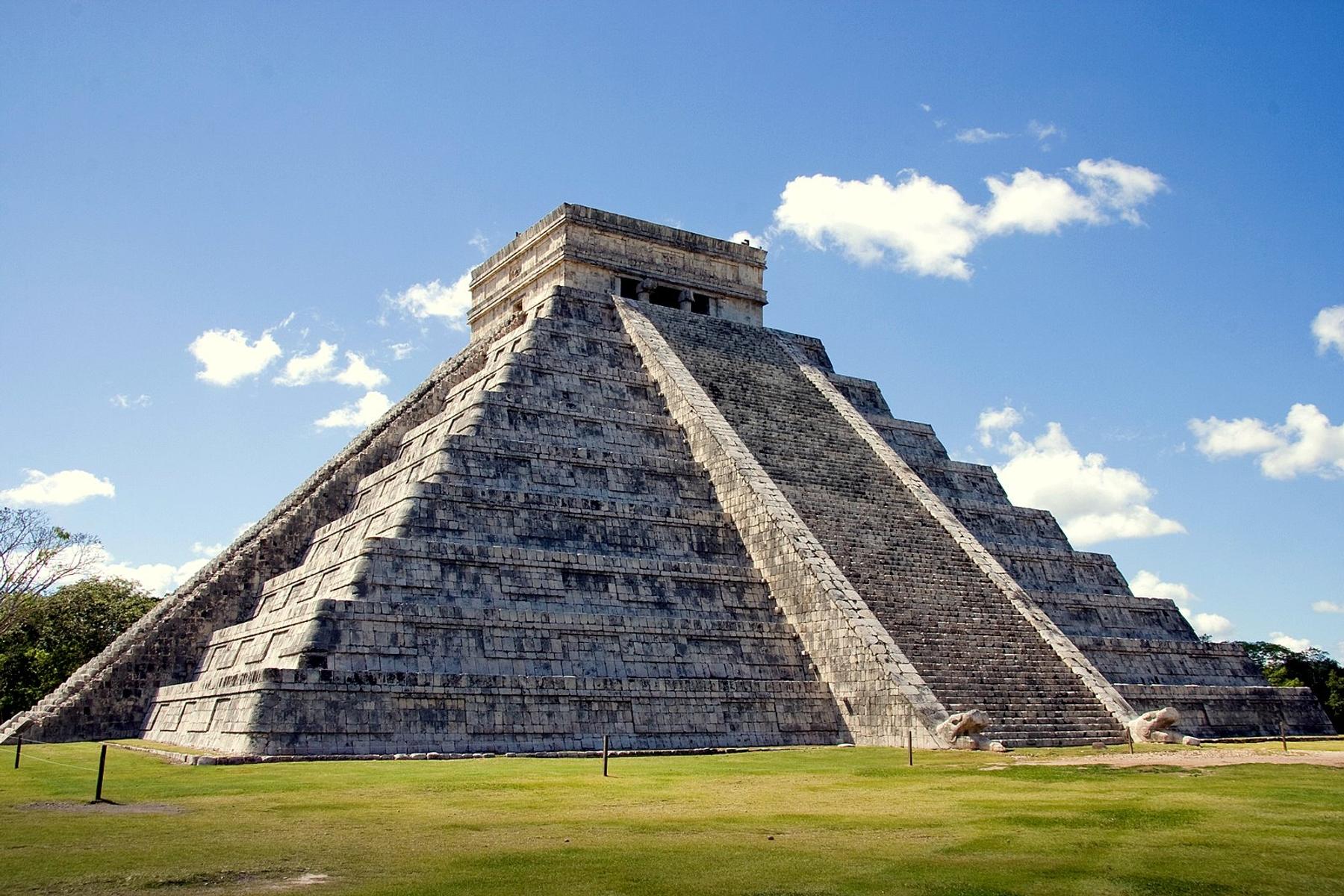 Pirâmide de Chichén Itzá, no México, um dos países mais visitados do mundo.