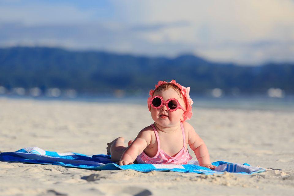 Baby girl on a beach