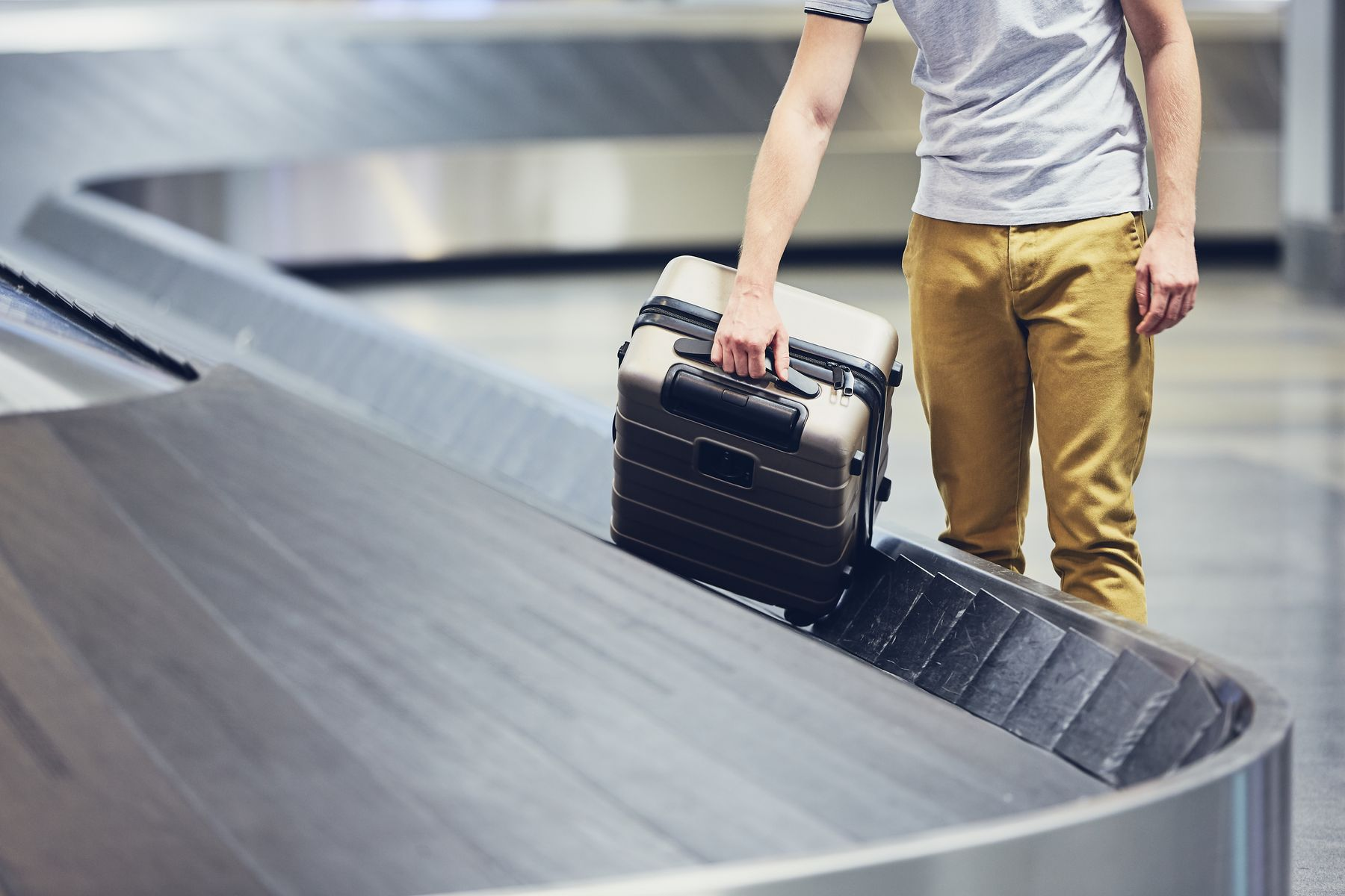 You can buy extra Ryanair luggage and pick it up at the baggage carousel