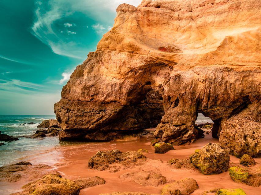 Playa de Rocha in the Algarve is one of the best beaches in Portugal
