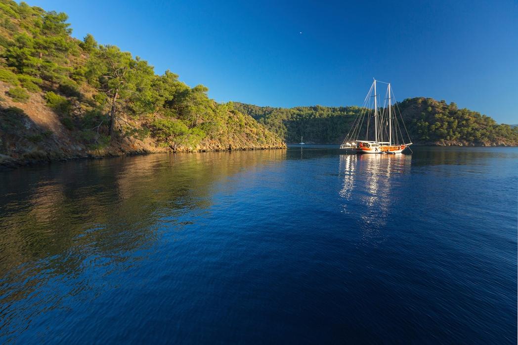 Boat in the sea of Dalaman