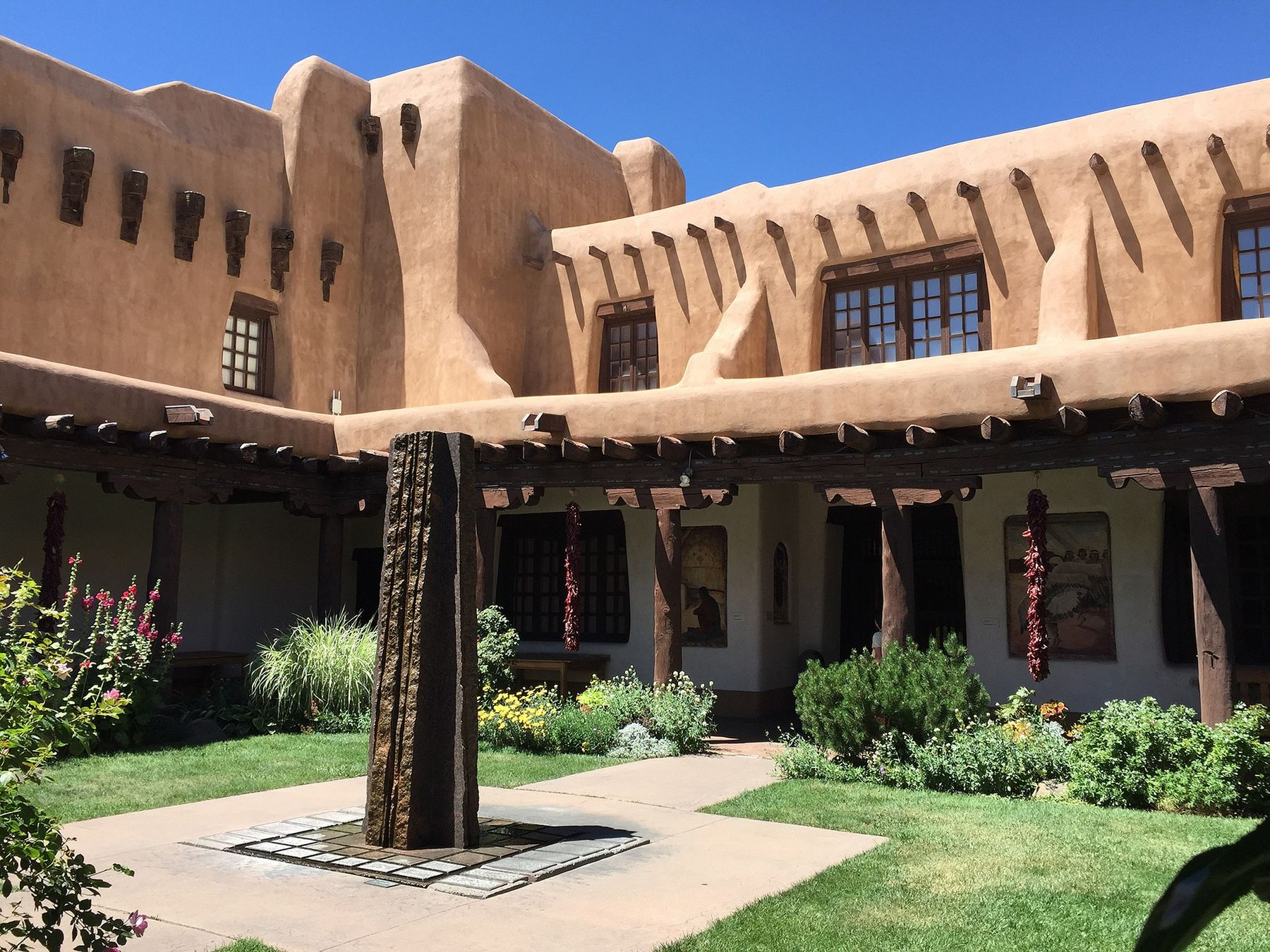 pueblo style house in new mexico