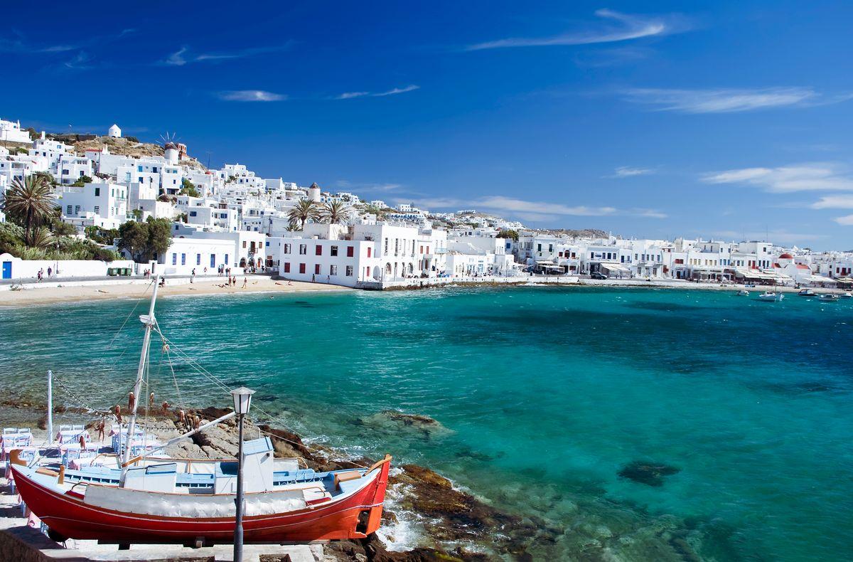 Κλασική εικόνα, κυκλαδίτικου ελληνικού νησιού, Χώρα, Μύκονος
