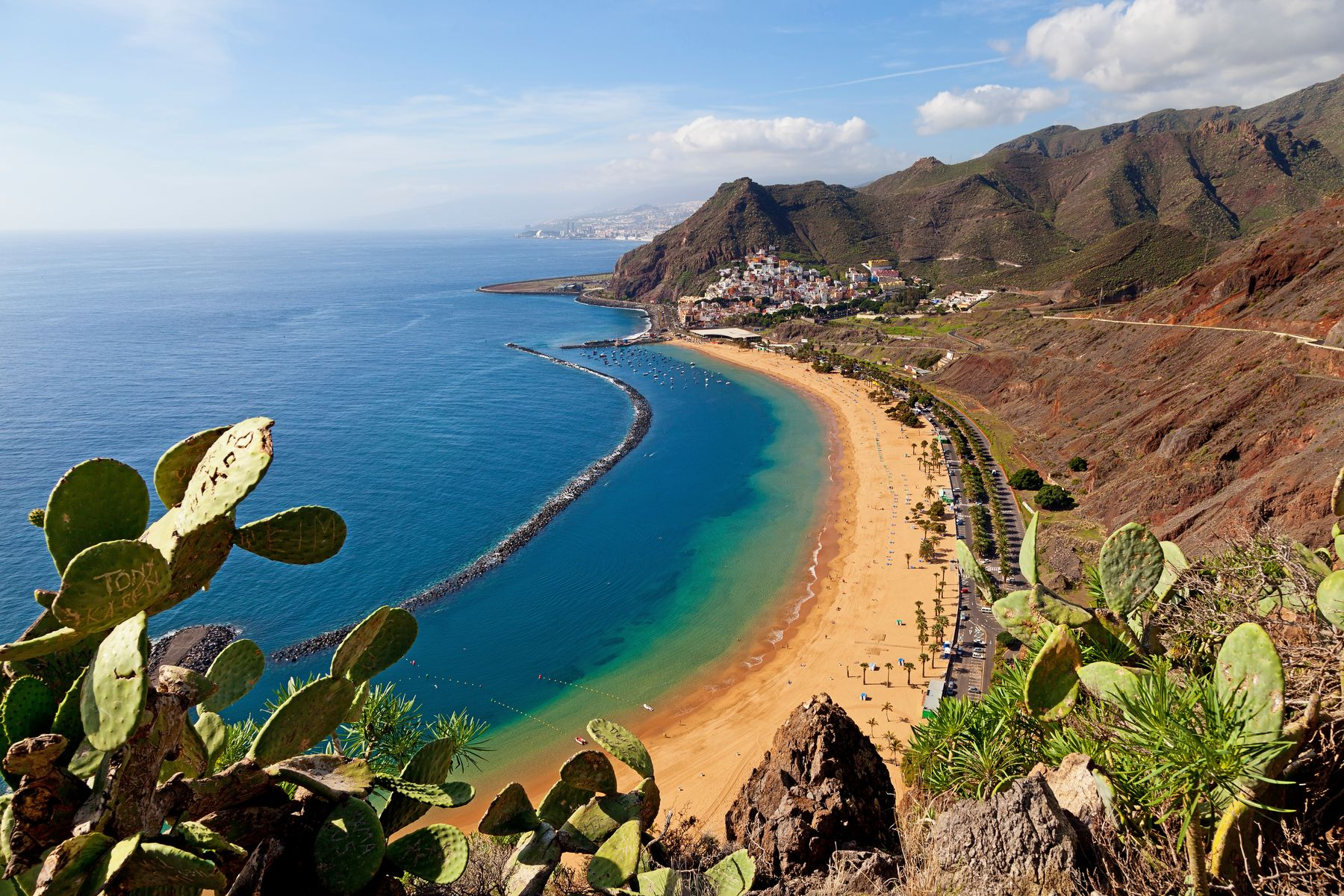 Playa de las Teresitas auf Teneriffa in Spanien