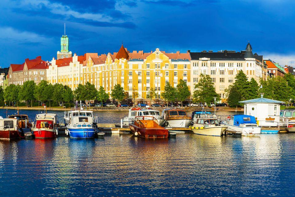 Old town of Helsinki, Finland