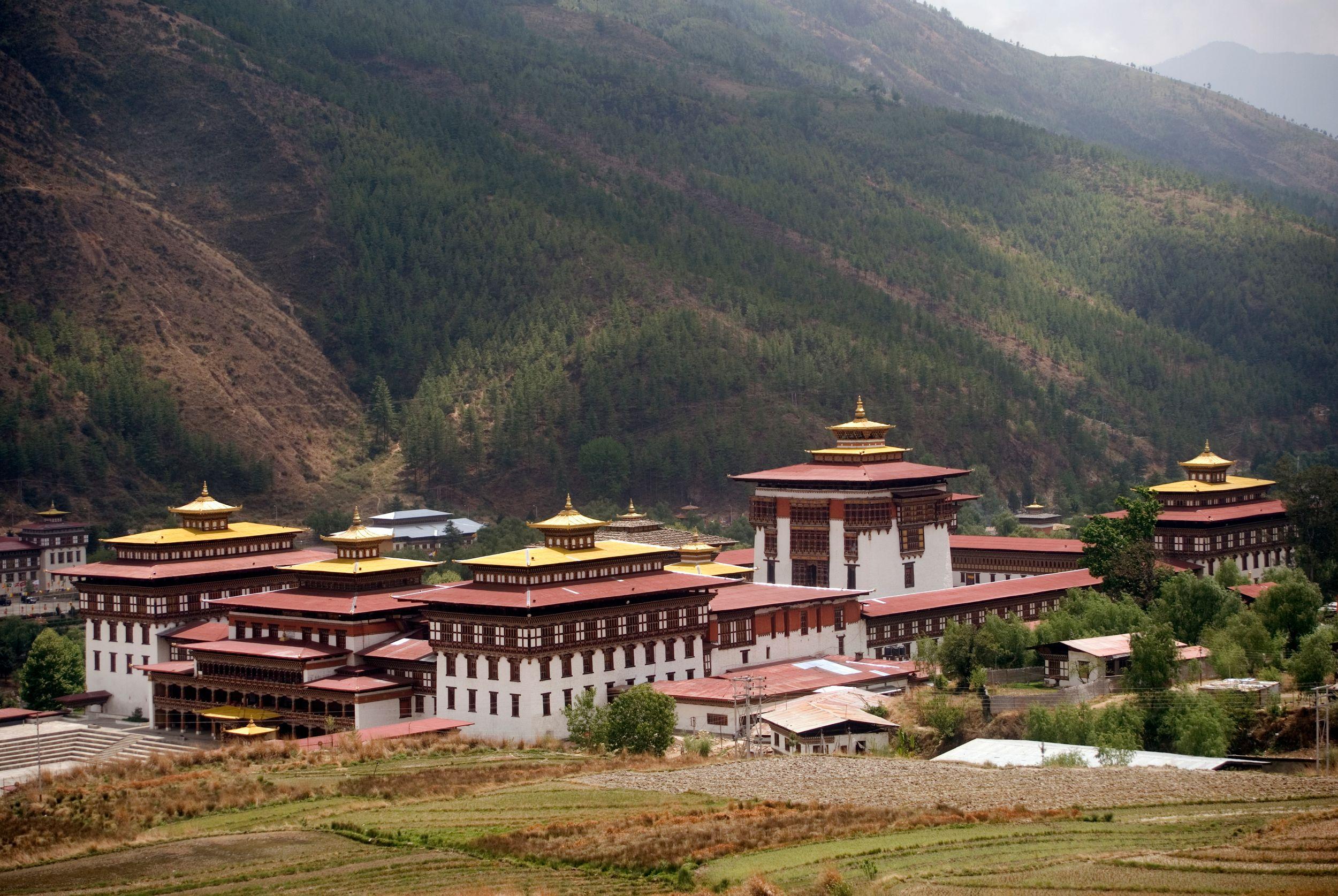 Sehenswürdigkeiten Bhutan: Dechencholing-Palast und Kloster Tashichho Dzong, Thimphu