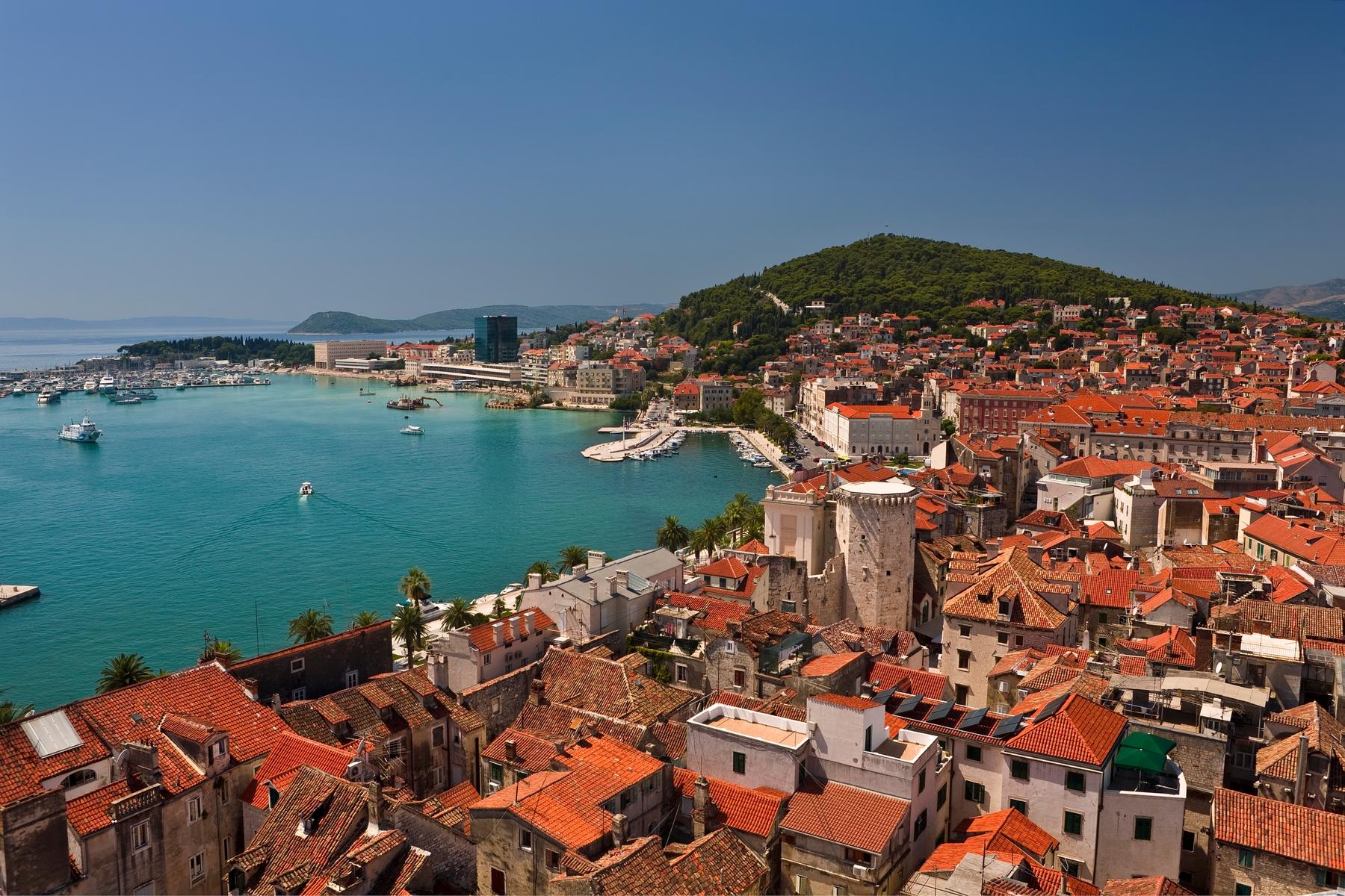 Split Altstadt und Hafen