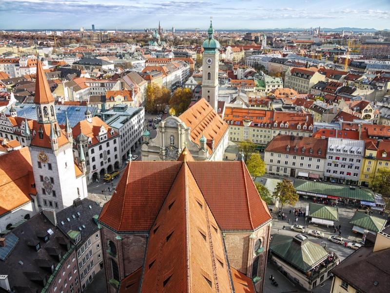 Панорама Мюнхена с высоты
