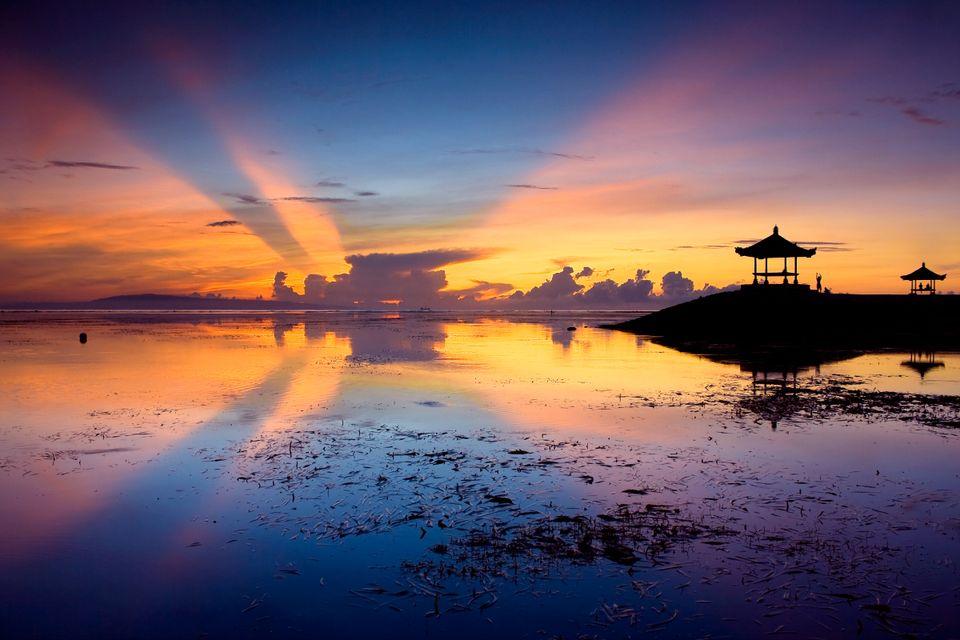Рассвет на Бали в Индонезии