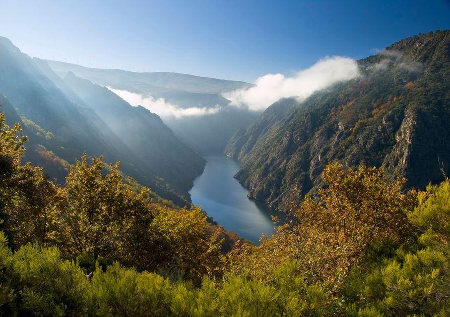Cañón del río sil en Galicia