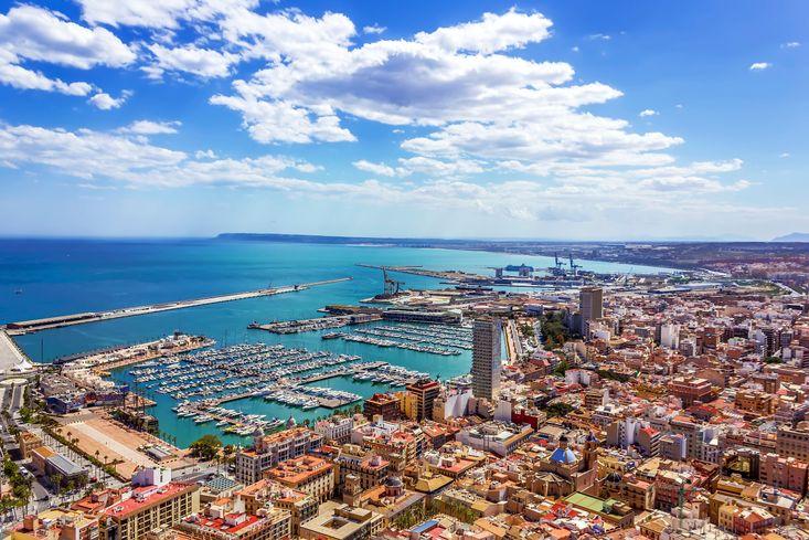 The port of Alicante, Spain