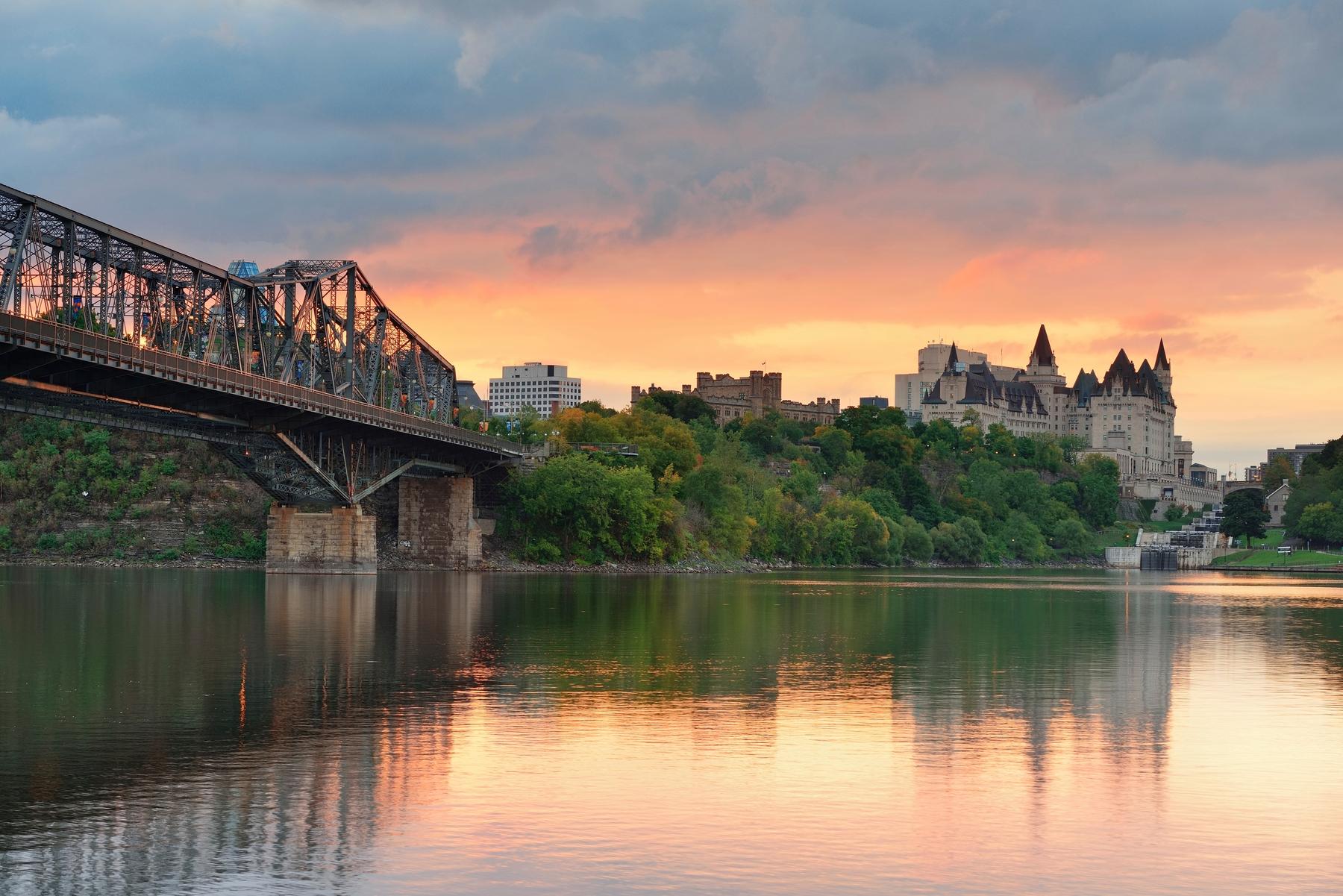 Países más grandes: Paisaje en la provincia de Quebec, en Canadá