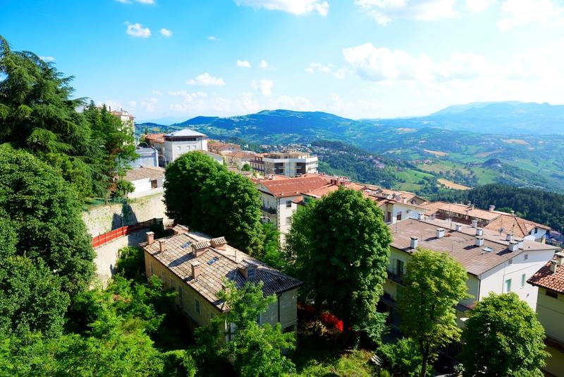 San Marino, vista dal centro storico