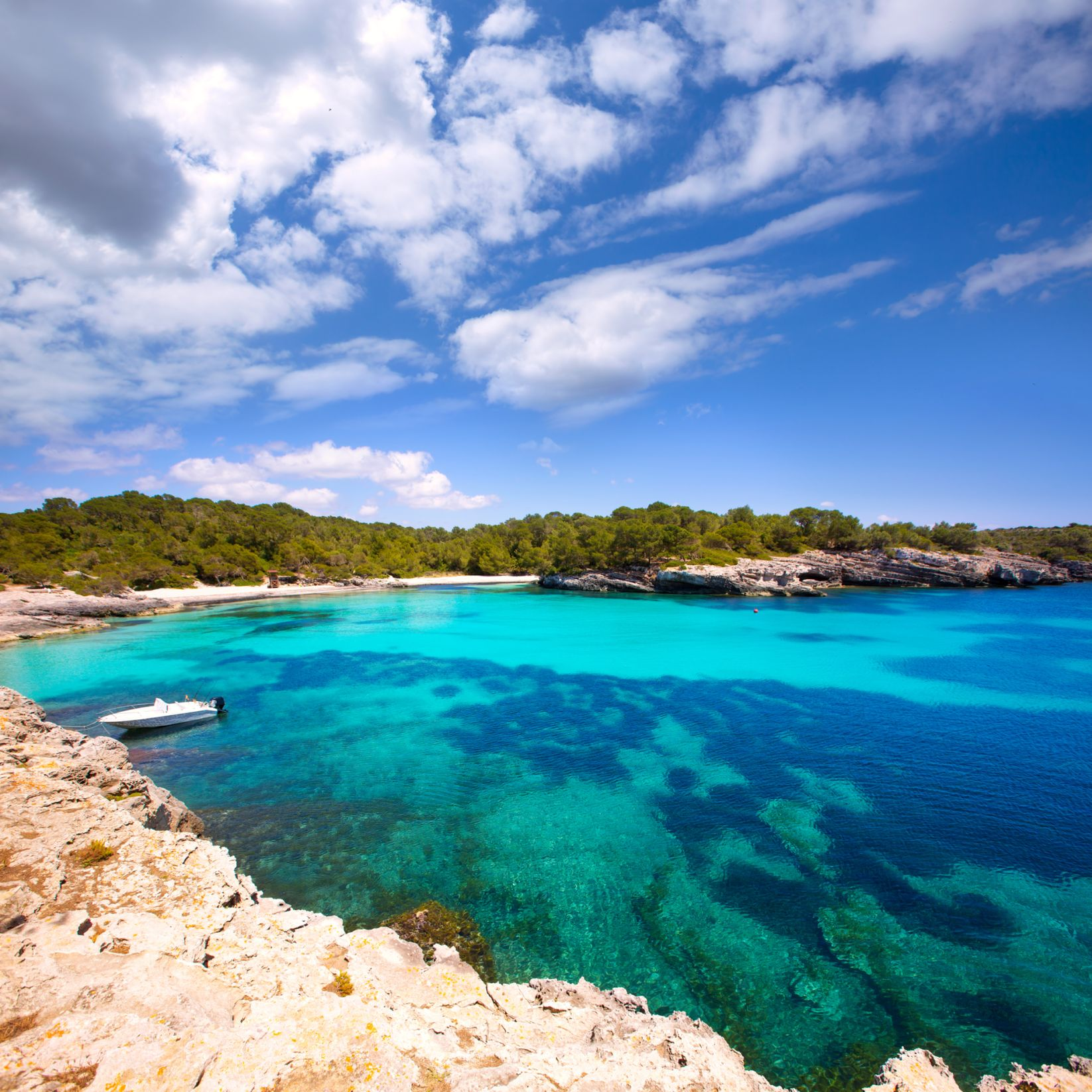 Cala Turqueta beach is one of the most beautiful in Menorca and the Balearic Islands