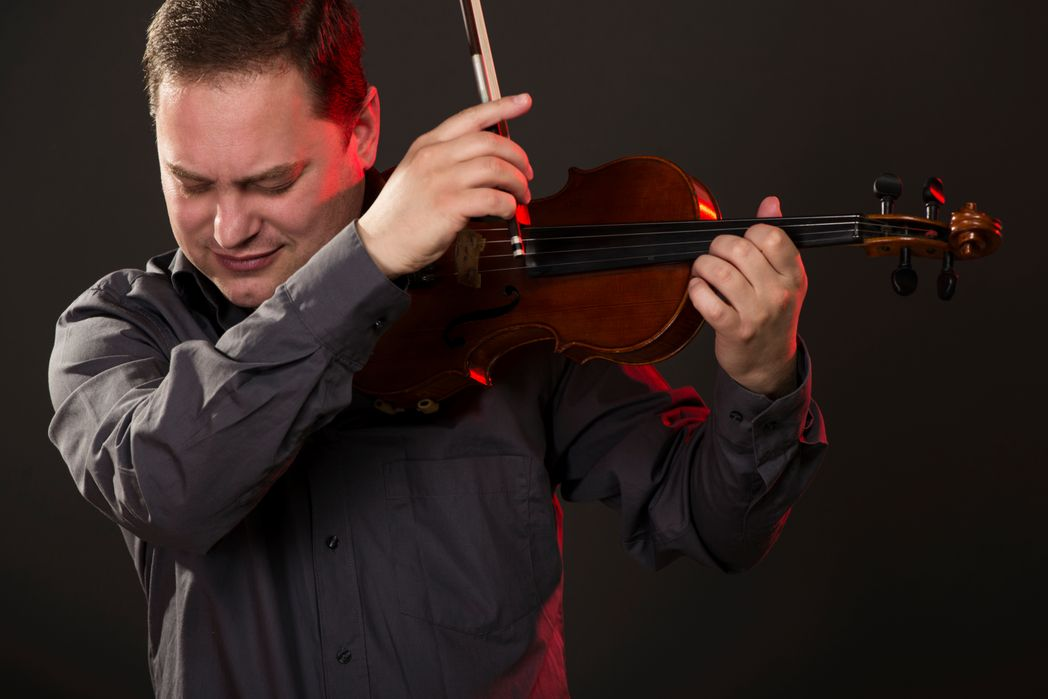 A violinist at TradFest Dublin - January