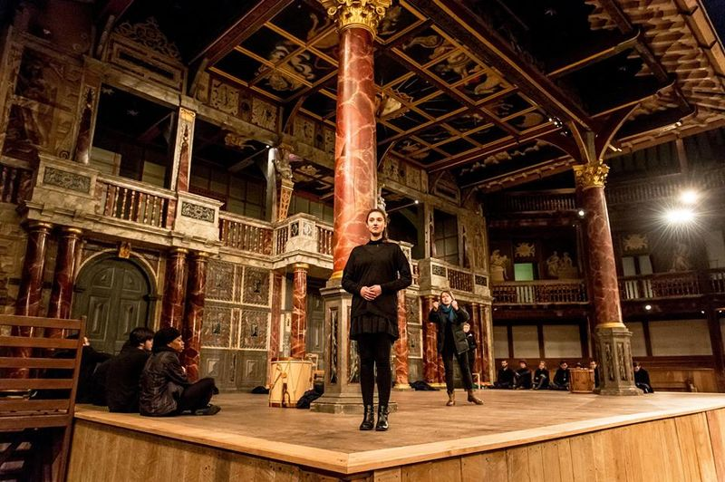The restored Shakespeare's Globe Theater