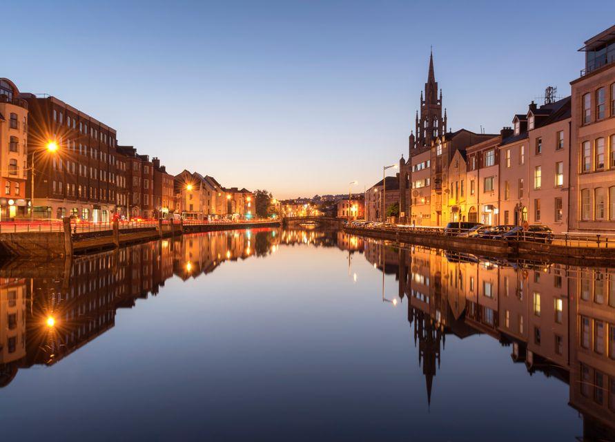 River Lee in Cork at dusk
