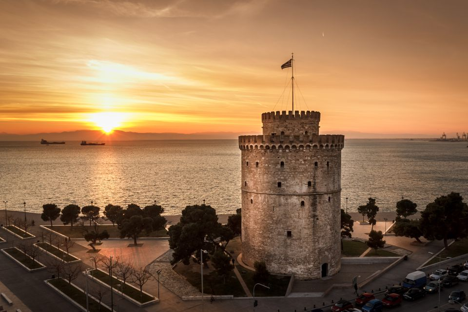 The sunset from the White Tower - top attractions and things to do in Thessaloniki, Greece