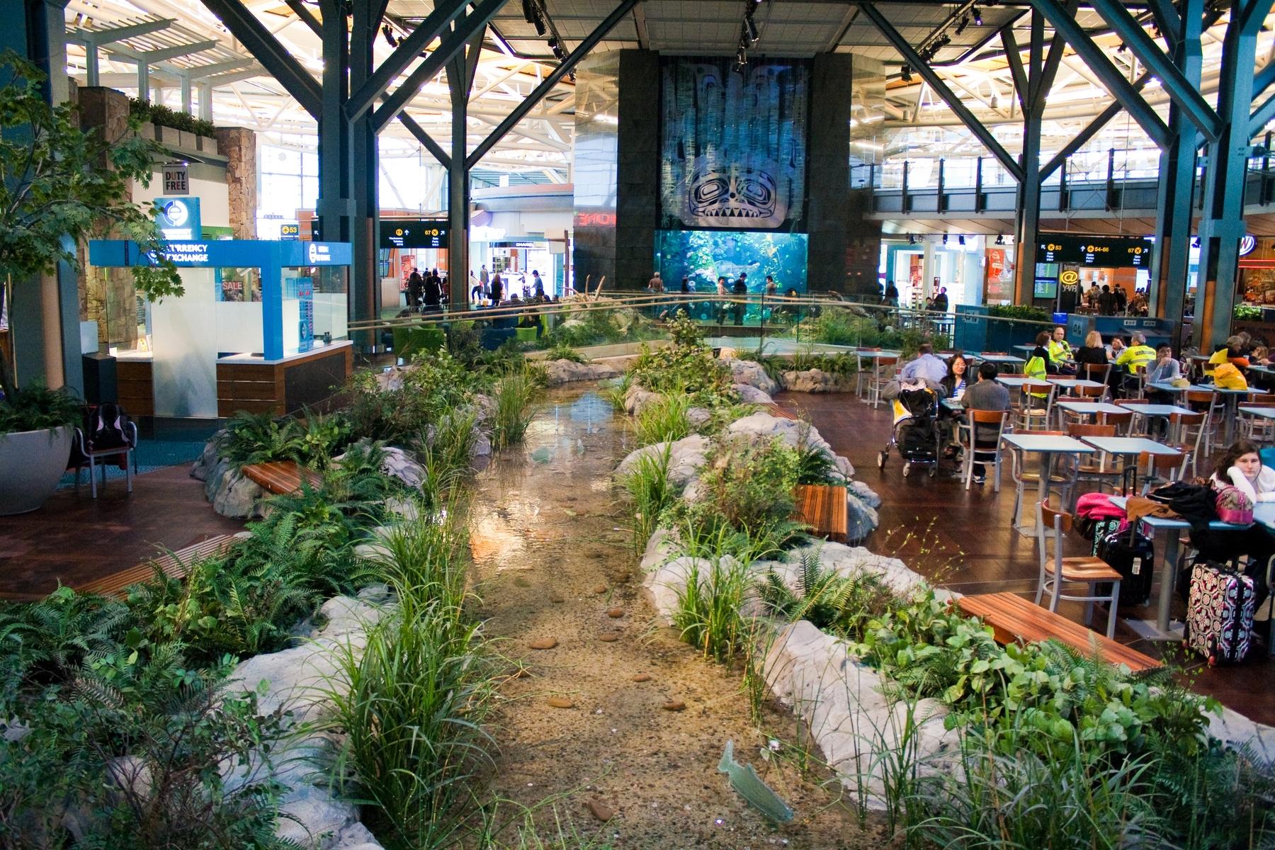 Garden inside Vancouver's airport