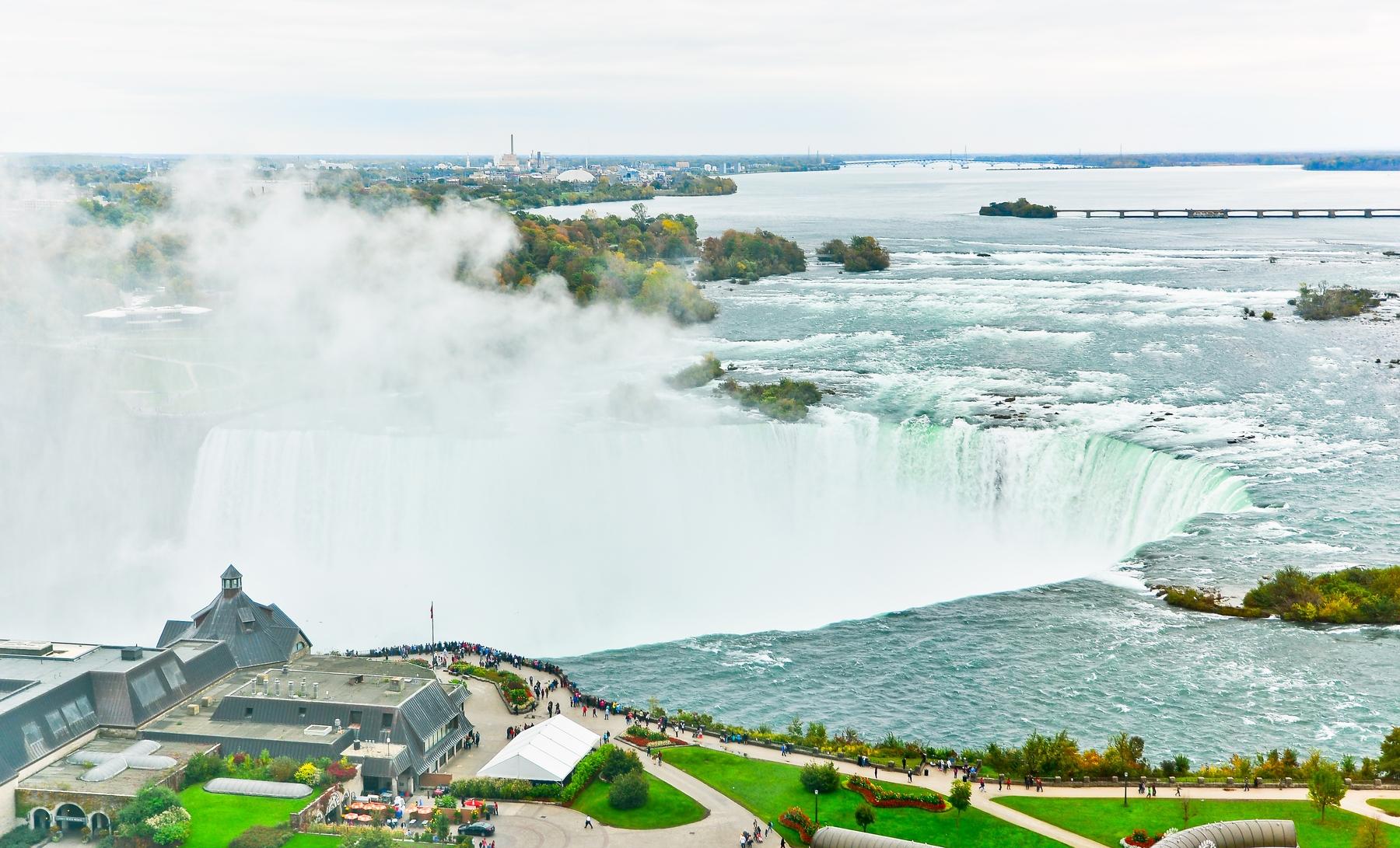 an aerial view of Niagara Falls