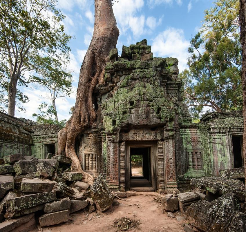 Khmer ναός στην Καμπότζη