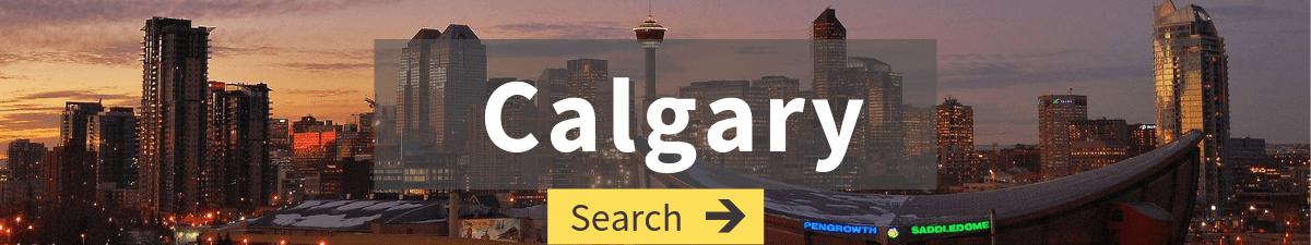 flights to calgary search with calgary skyline