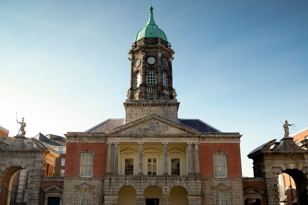 Historic building, part of Dublin Castle, one of the best castles in Ireland