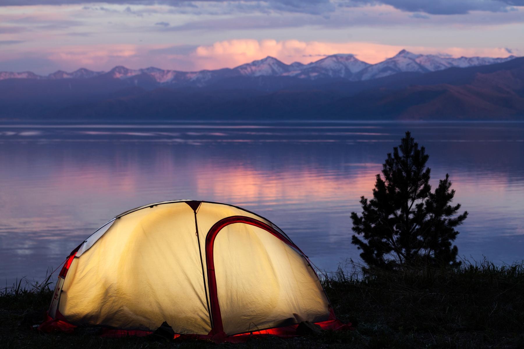 Отпуск в палатках на озере Байкал