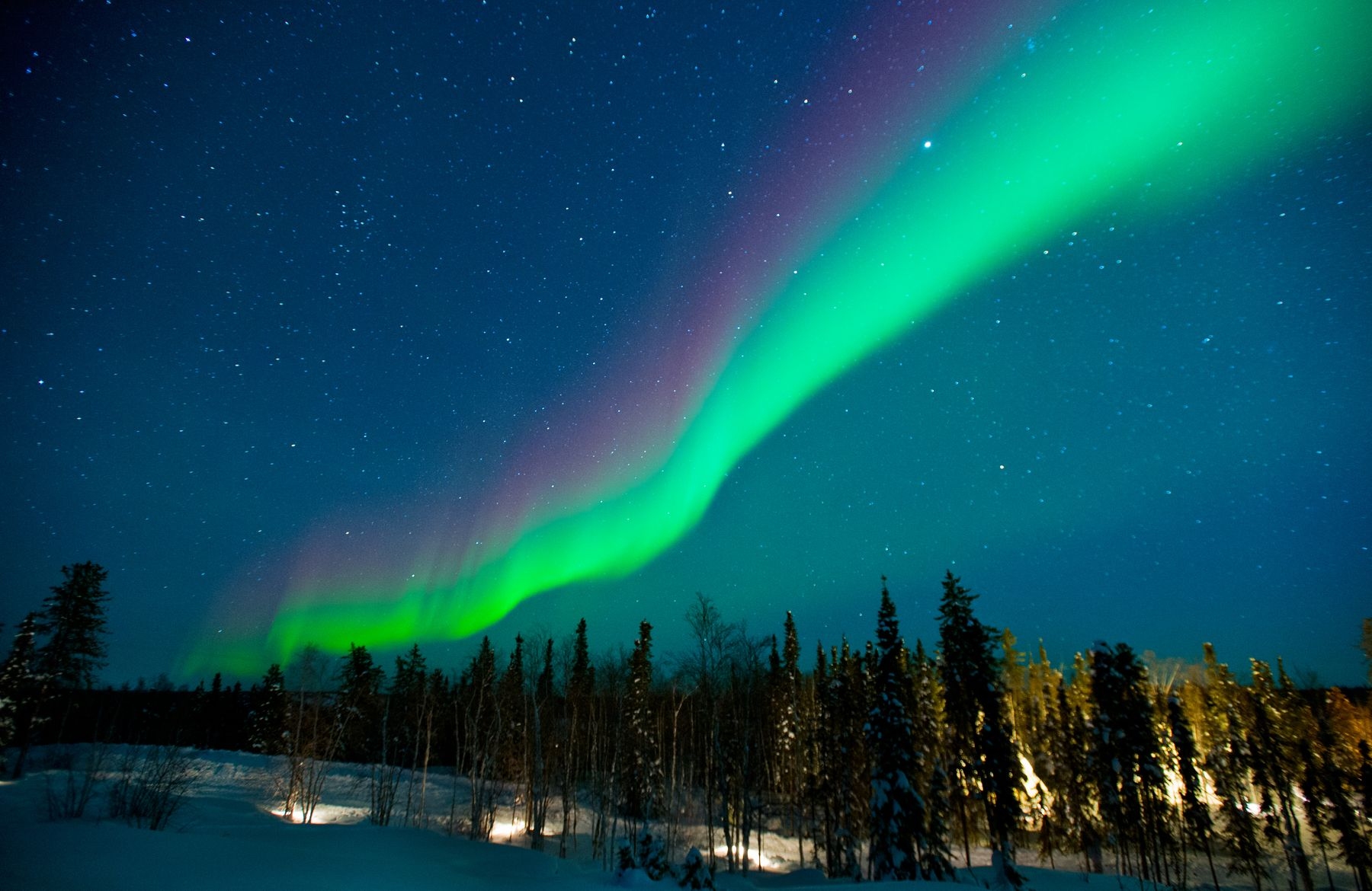northern lights in the winter, a great christmas getaway in canada