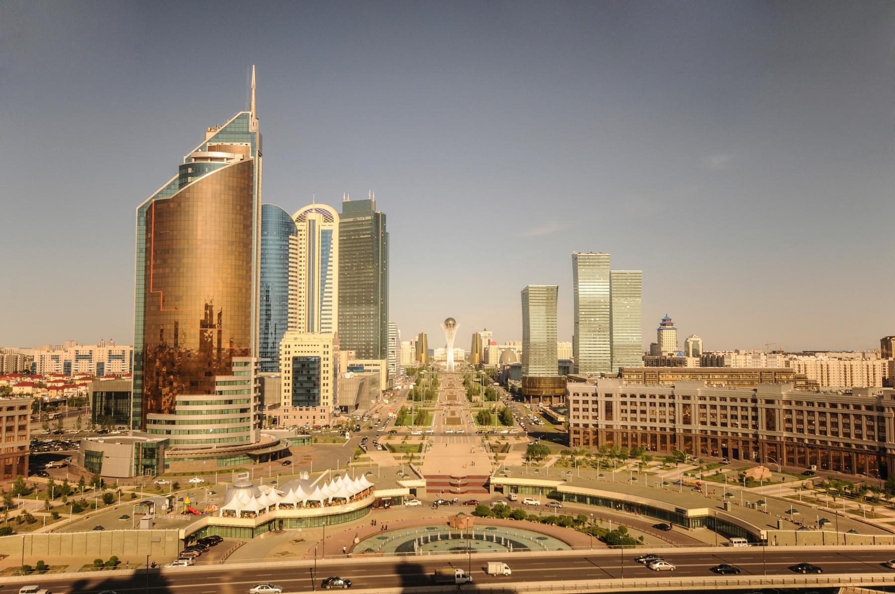 Países más grandes: Rascacielos en Astana, capital de Kazajistán