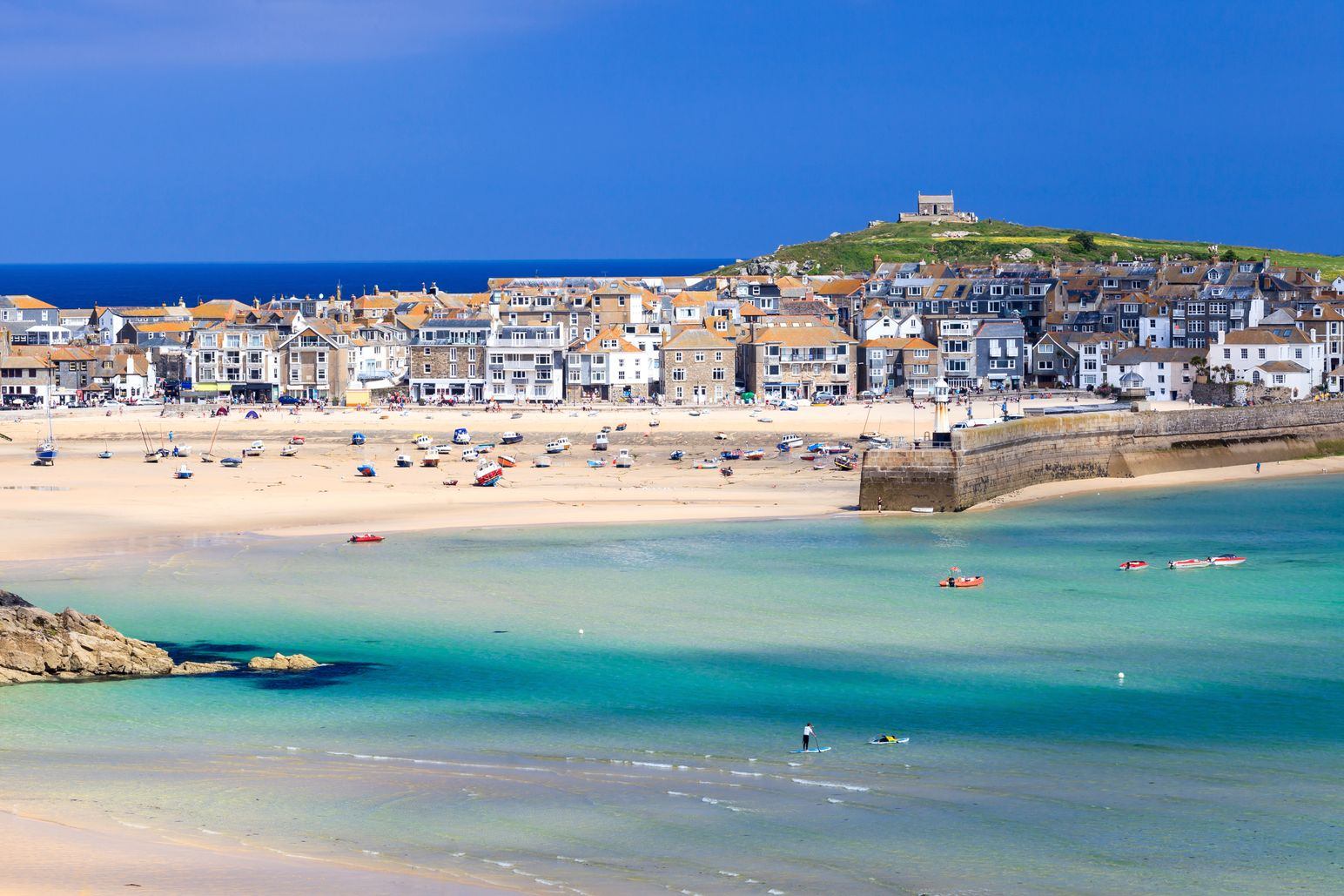 In St. Ives Bay you'll find one of the most beautiful beaches in Britain