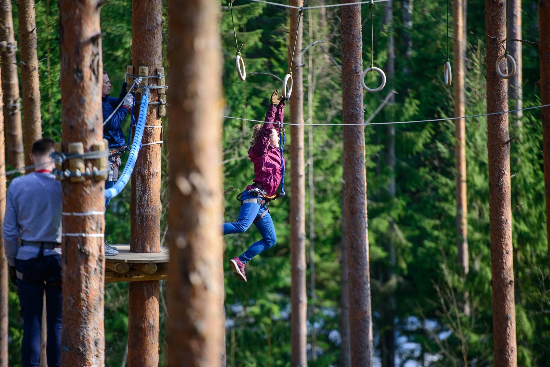 Куда съездить из Питера на выходные. Веревочный «Норвежский парк Орех»