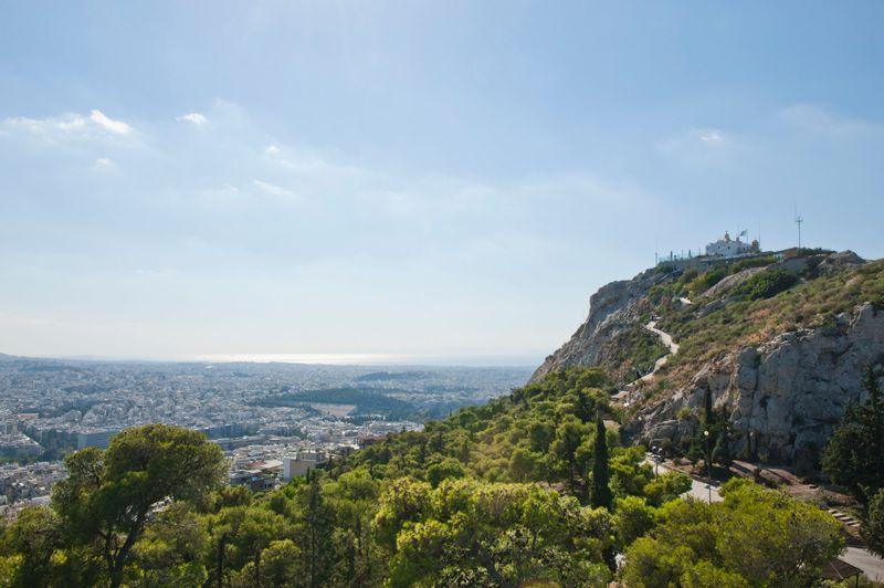 Athens skyline with Acropolis