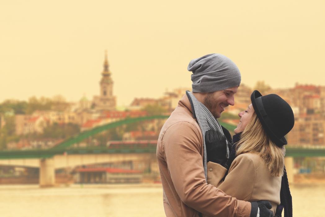 Ζευγάρι στο Βελιγράδι της Σερβίας