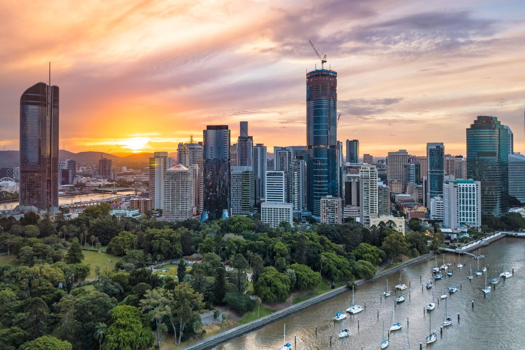 The Gold Coast of Australia is just south of Brisbane