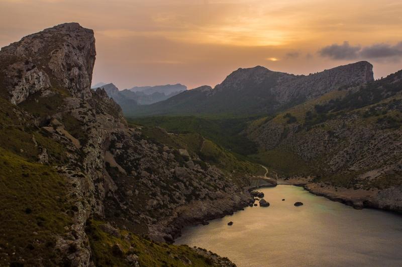 Rocky cliffs around Pollensa, Mallorca