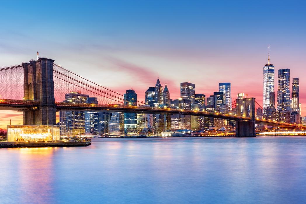 Brookyln Köprüsü ve Manhattan manzarası, New York