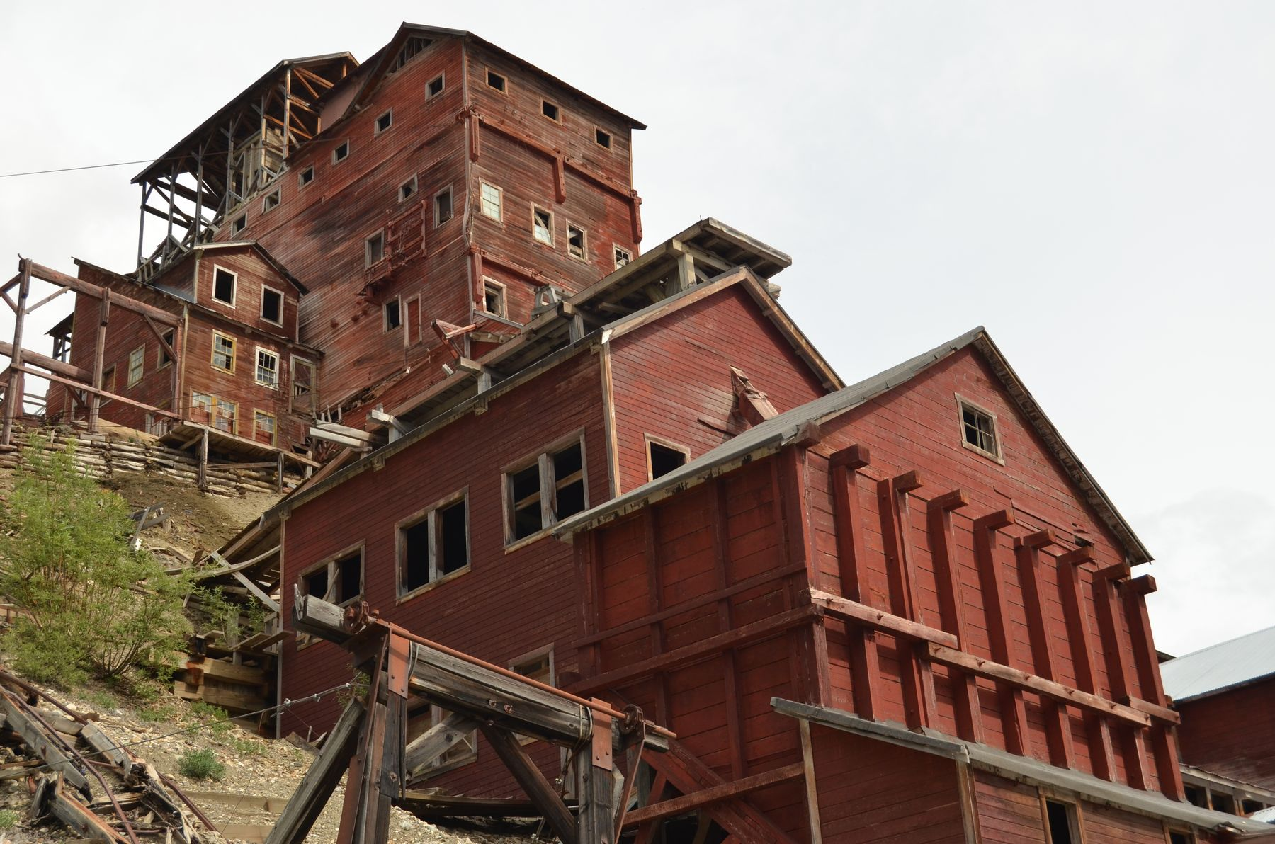 Kennecott Mina, abandoned place in Alaska