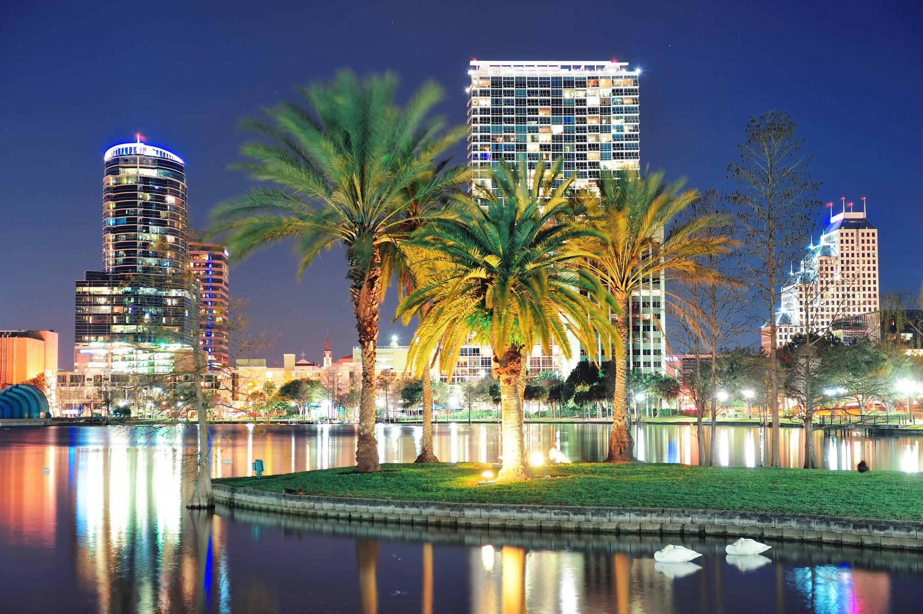 view of Orlando Florida at night