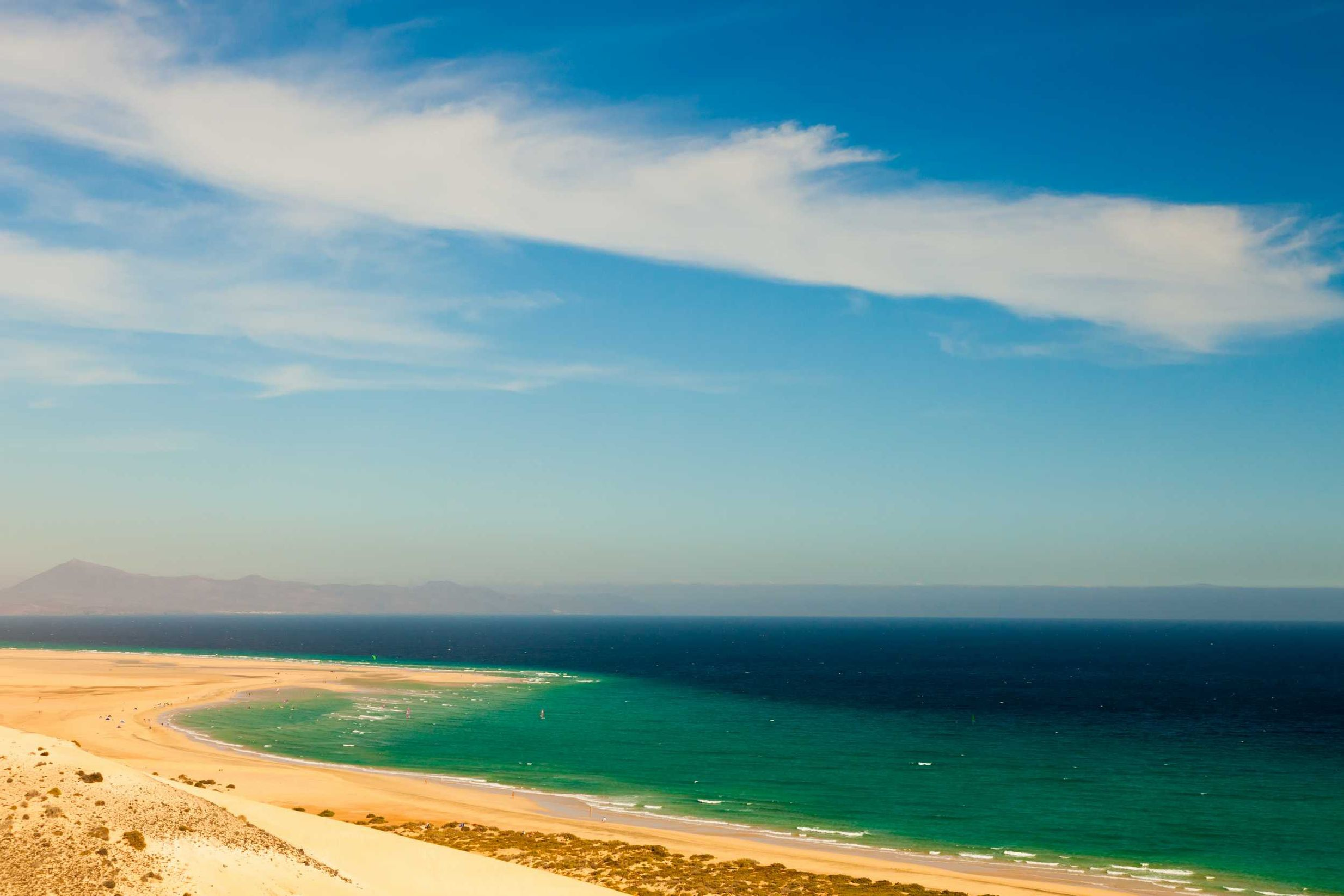 Yellow stretch of sand in Fuerteventura - the beaches are some of the best in Europe