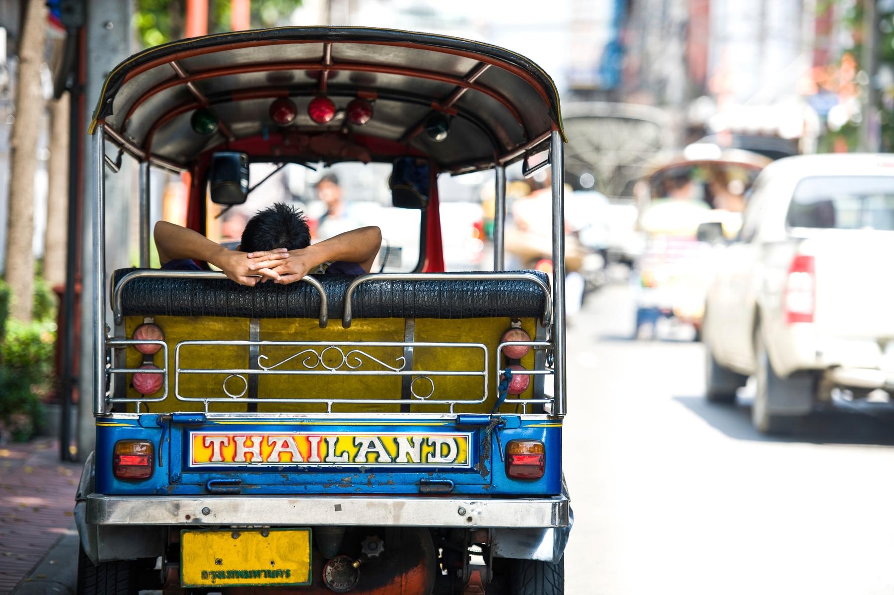 A Tuk tuk in Bangkok, the jumping off point for many Banana Pancake Trail holidays